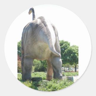 恐竜のBrontosaurus ラウンドシール