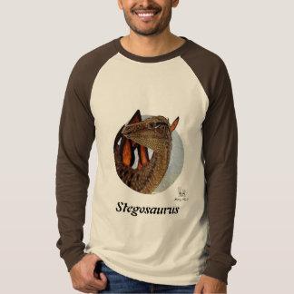 恐竜のRaglanのステゴサウルスのポートレートグレゴリーポール Tシャツ