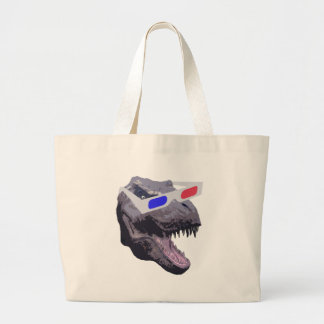 恐竜のTシャツ ラージトートバッグ