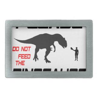 恐竜を食べ物を与えないで下さい 長方形ベルトバックル
