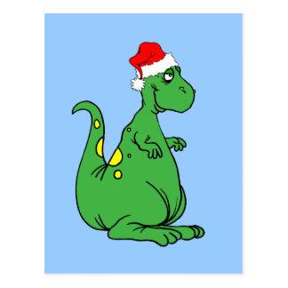 恐竜サンタ ポストカード