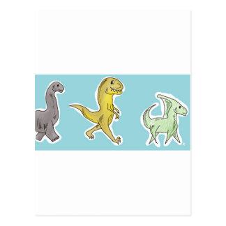 恐竜パレード ポストカード