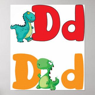 恐竜ポスターのためのD ポスター
