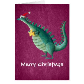 恐竜-サンタクロースの助手 カード