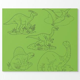 恐竜 ラッピングペーパー