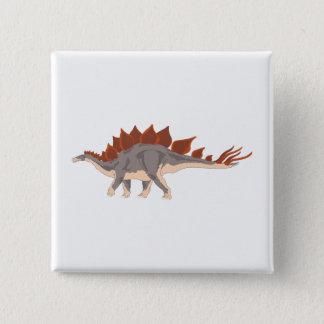 恐竜 5.1CM 正方形バッジ