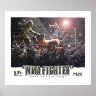 恐竜MMAの戦い ポスター