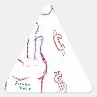 恥 三角形シール