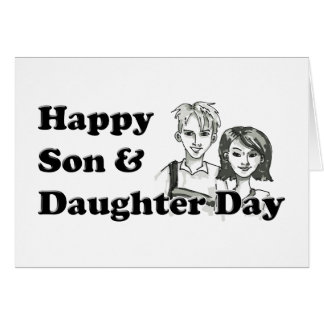 息子および娘日 カード