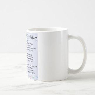 息子の詩の第18誕生日のデザイン コーヒーマグカップ