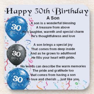息子の詩-第30誕生日のデザイン コースター