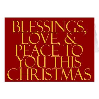 恵み、愛及び平和赤 カード