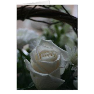 悔やみや弔慰カード白いバラのユニークな挨拶状 カード