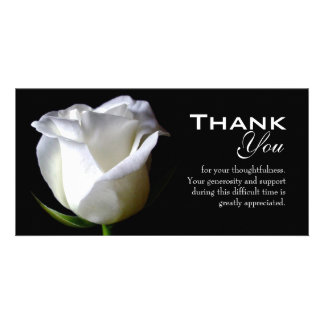 悔やみや弔慰/葬式は写真カード感謝していしています カード