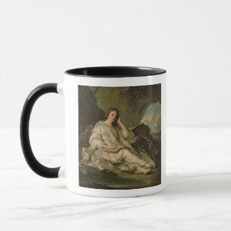 悔悟者Magdalene (キャンバスの油) マグカップ