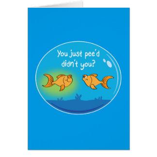 悩まされた金魚(誕生日) カード