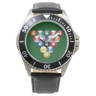 悩まされるビリヤードの玉突の玉 腕時計