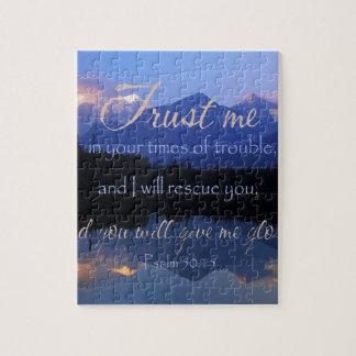 悩みの賛美歌の50:15の時私の信頼 ジグソーパズル