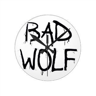 悪いオオカミ ラウンド壁時計