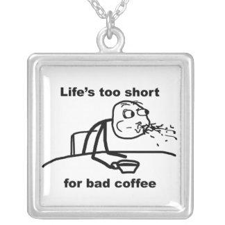 悪いコーヒー シルバープレートネックレス