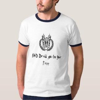 悪いドルイド教司祭はあなたの木に行きます Tシャツ