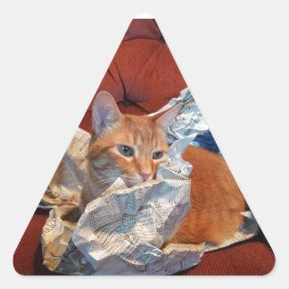 悪いニュースをストップギズモ 三角形シール