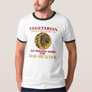 悪いハンターのための菜食主義の古いインドの単語 Tシャツ