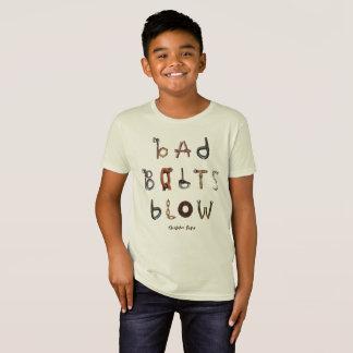 悪いボルト打撃-オーガニックなTシャツ Tシャツ