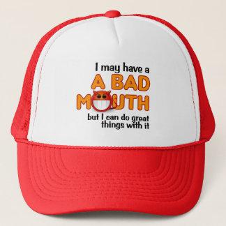 悪い口の帽子 キャップ