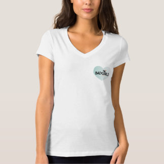 悪い女の子のよい行為-女性ロゴ(ハート) Tシャツ