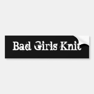 悪い女の子のニット バンパーステッカー