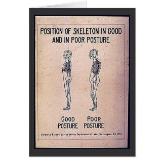 悪い姿勢よくとの骨組の位置 カード