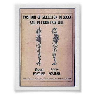 悪い姿勢よくとの骨組の位置 ポスター