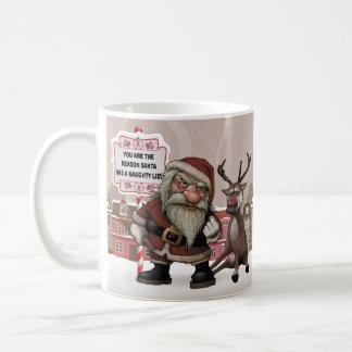 悪い状態によって飲まれるサンタの悪いサンタのクリスマスのギフトのマグ コーヒーマグカップ