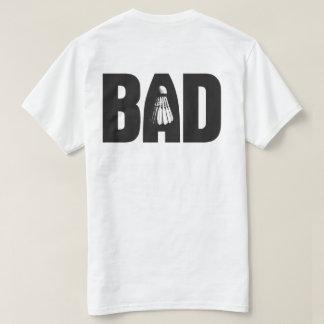 悪い状態の(バドミントンでよい)背部 Tシャツ