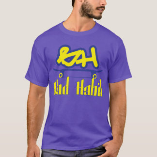 悪い習慣Sk8の黄色 Tシャツ