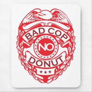 悪い警察官ドーナツ無し-赤 マウスパッド