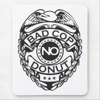 悪い警察官ドーナツ無し-黒 マウスパッド