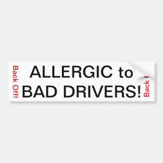 悪い運転者にアレルギー! バンパーステッカー