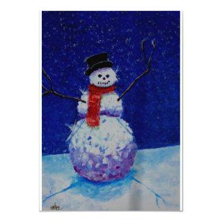悪い雪だるまの招待状 カード