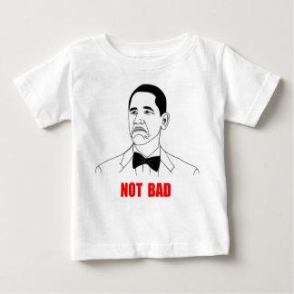 悪くないバラック・オバマの激怒の顔のミーム ベビーTシャツ