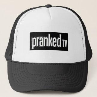 悪ふざけをされたTVの帽子 キャップ