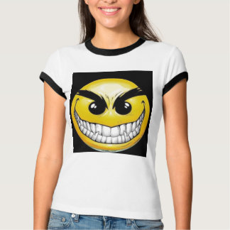 悪スマイリー顔 Tシャツ