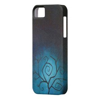 悪夢の青いたそがれのiPhone 5の箱の木 iPhone SE/5/5s ケース