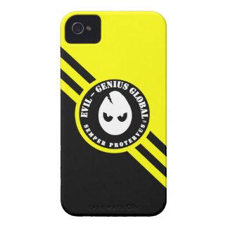 悪天才全体的なブラックベリーのはっきりしたな箱 Case-Mate iPhone 4 ケース