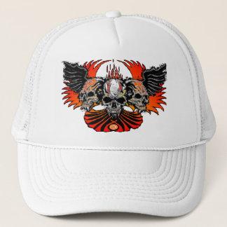 悪賢いスカルの翼の炎のフェニックスの野球帽 キャップ
