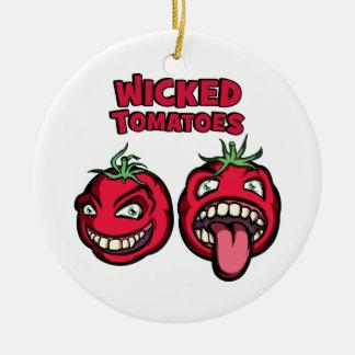 悪賢いトマト セラミックオーナメント
