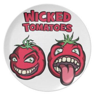 悪賢いトマト プレート