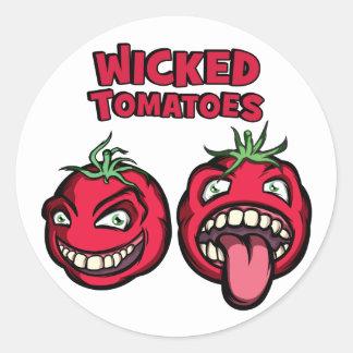悪賢いトマト ラウンドシール