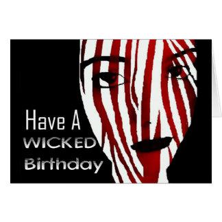 悪賢い悪賢い誕生日を…余りに持って下さい;) カード